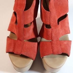 Calvin Klein Suede Chunky Heels Talia  sz 8.5